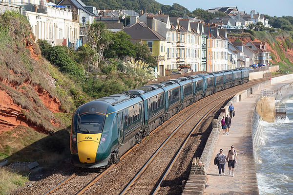 802005 and 802022, Dawlish 19/9/2019 1A81 0741 Penzance-London Paddington