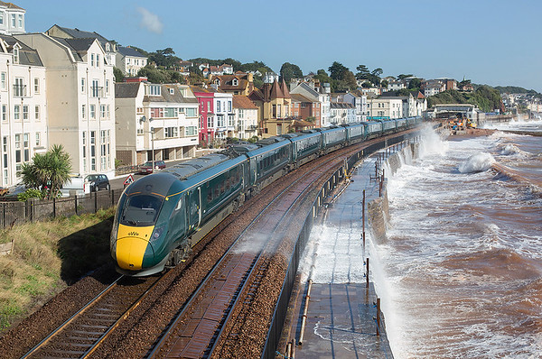 802022 and 802011, Dawlish 20/9/2019 1A81 0741 Penzance-London Paddington