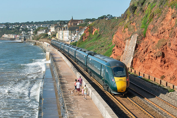 802007 and 802001, Dawlish 19/9/2019 1C04 0730 London Paddington-Penzance