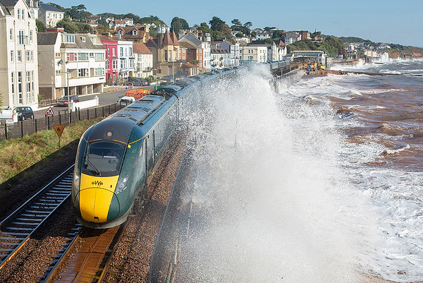 802014 and 802006, Dawlish 20/9/2019 1C04 0730 London Paddington-Penzance