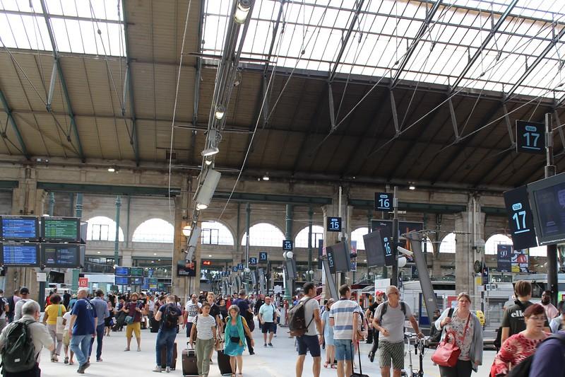 Inside SNCF Paris Gare du Nord
