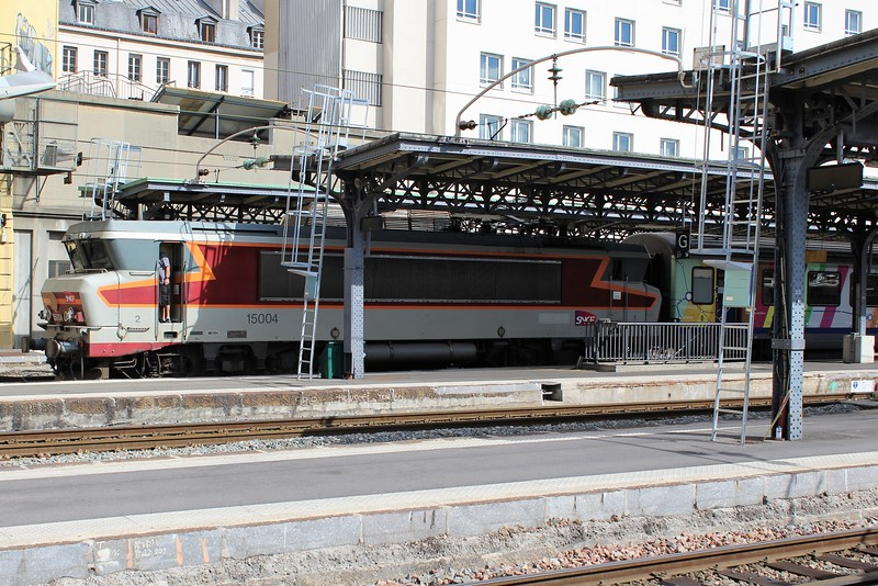 SNCF Class BB 15000 locomotive No. 15004 at Paris Est