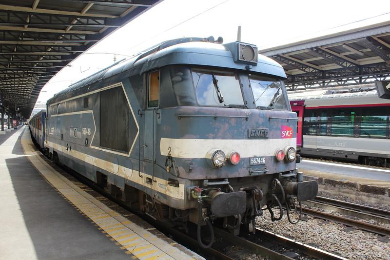 SNCF Class BB 67400 locomotive No. 567446 at Paris Est