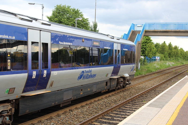 Translink/NIR Class 3000 DMU at Sydenham Station