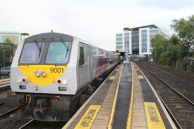 Enterprise DVT No. 9001 at Belfast Lanyon Place Station