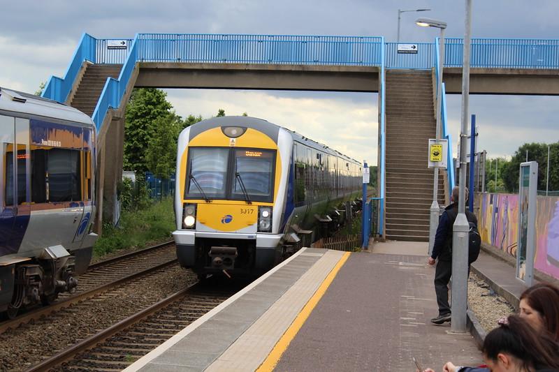 Translink/NIR Class 3000 DMU No. 3017 at Sydenham Station