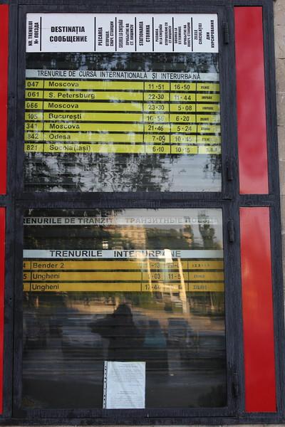 Calea Ferată din Moldova (CFM) Chișinău railway station Timetable