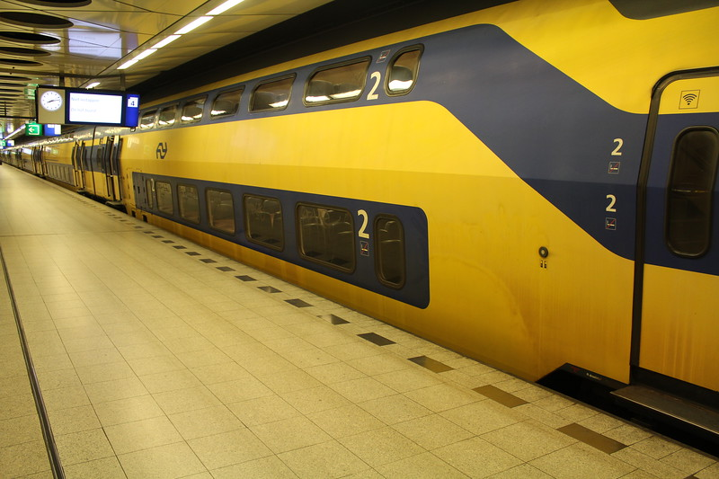NS Verlengd InterRegio Materieel (VIRM) EMU at Amsterdam Schiphol (Airport) Station