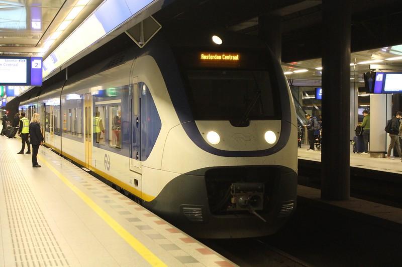 NS Bombardier Sprinter Light Train (SLT) EMU No. 2452 at Amsterdam Schiphol (Airport) Station