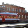 Lietuvos Geležinkeliai (Lithuanian Railway) Lentvaris Station : Pesa 620M DMU