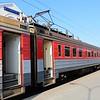 Vilnius Central Railway Station (Vilniaus geležinkelio stotis): Lietuvos Geležinkeliai (Lithuanian Railway) RVR ER9M EMU