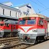 Vilnius Central Railway Station (Vilniaus geležinkelio stotis): Lietuvos Geležinkeliai (Lithuanian Railway) RVR ER9M EMU & DR1AM DMU