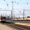 Lietuvos Geležinkeliai (Lithuanian Railway) RVR ER9M EMU : Lentvaris station