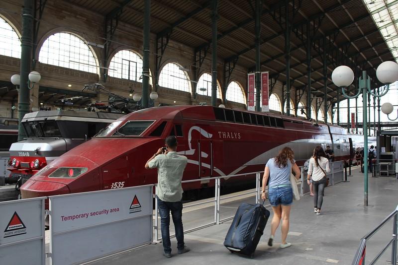 Thalys PBA Class TGV Réseau high speed EMU No. 4535 at Paris Gare du Nord