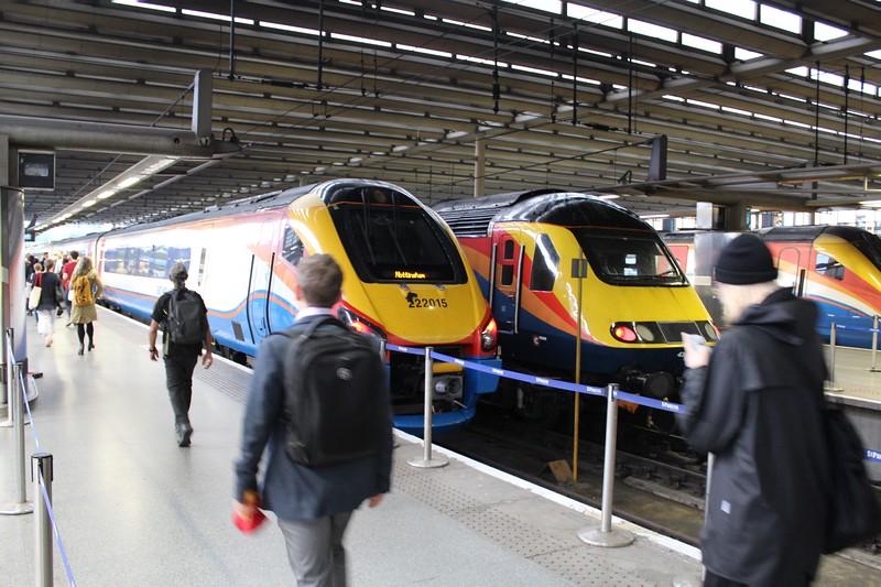 East Midlands Trains Class 222 No 222015 at London St Pancras Station