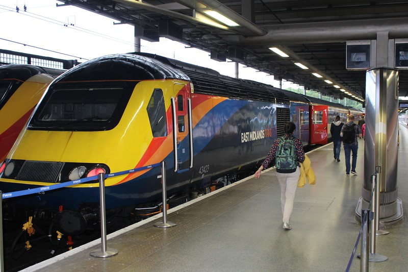 East Midlands Trains Class 43 No. 43423 High Speed Train (HST) at London St Pancras Station