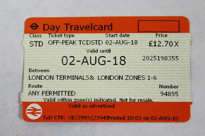 Day Travelcard (Issued by East Midlands Trains) RSP9399 Stock