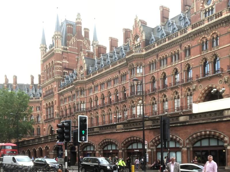 London St. Pancras Station – From Euston Road, facing northwest