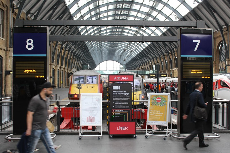London King's Cross Station – Platforms and Train Shed Arch facing north