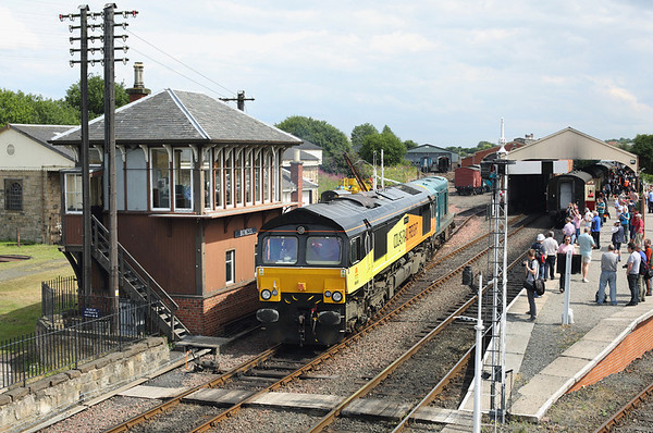 66849 and 20020, Bo'ness 27/7/2013