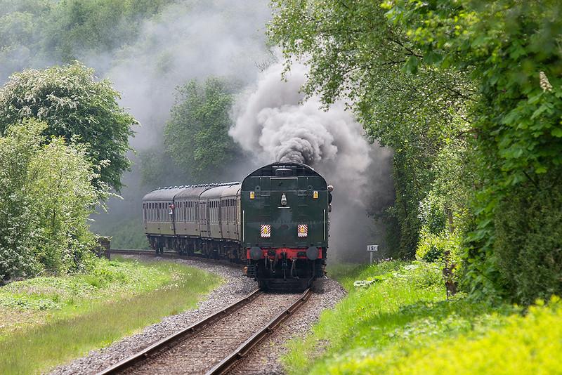 71000 'Duke of Gloucester', Irwell Vale 20/5/2007<br /> 1335 Heywood-Rawtenstall