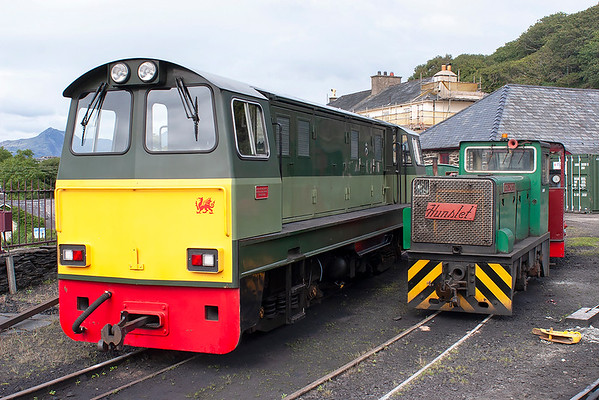 'Vale of Ffestiniog' and 'Moel y Gest', Boston Lodge 7/8/2012