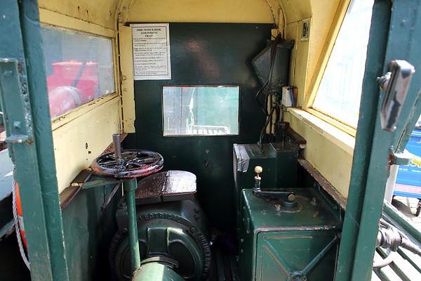 Cab of Hythe Pier Railway No.1, 27/8/2013