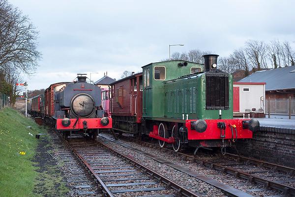 War Department 72222 and 'Edmundsons', Rushden Transport Museum 21/3/2014