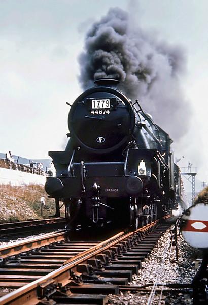 44874 and 45017, Copy Pit 4/8/1968 1Z79 0905 Birmingham New Street-Birmingham New Street ('Farewell to Steam No.2 Railtour', via Manchester Victoria, Huddersfield, Blackburn)