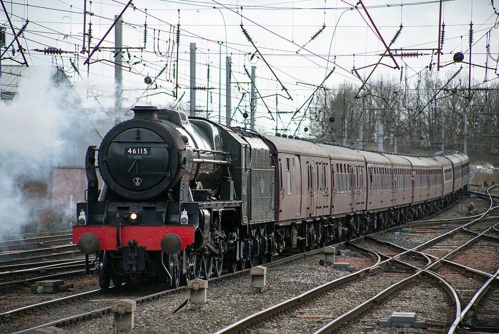 46115 'Scots Guardsman', Carlisle 22/2/2014<br /> 1Z86 0709 London Euston-Carlisle