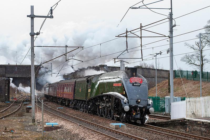 60009 'Union of South Africa', Oxenholme 23/2/2013<br /> 1Z86 0706 London Euston-Carlisle