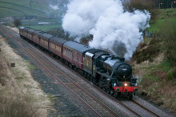45407 'The Lancashire Fusilier', Bamber Bridge 20/1/2007 1Z34 1409 Bradford Interchange-Milton Keynes Central