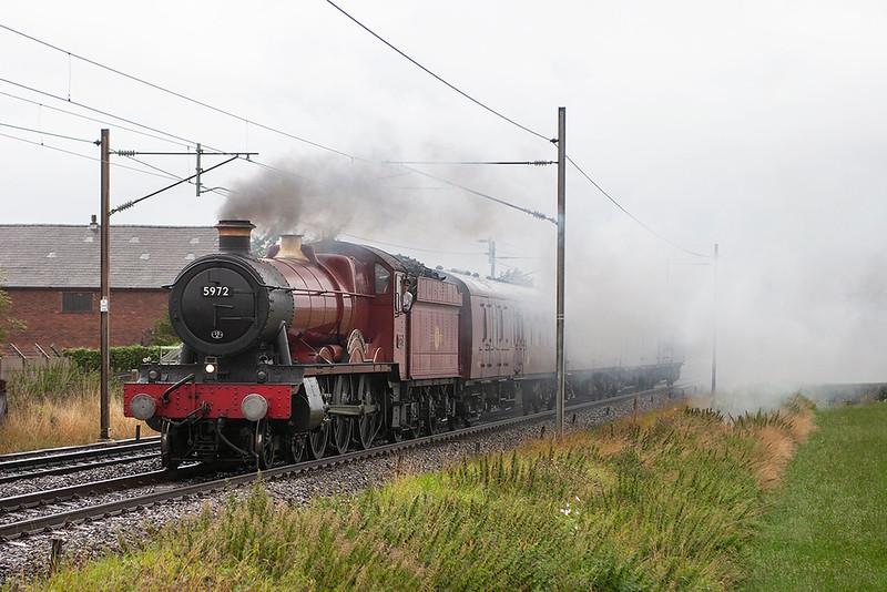 5972 'Hogwarts Castle', Brock 29/8/2006<br /> 5Z59 0621 Carnforth-Hornsey EMU Depot