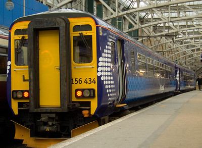 156434 at P14 of Glasgow Central waiting it's next turn of duty