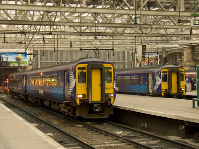 156435 and 156437 at Glasgow Central waiting their next turn of duty