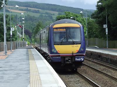 170405 departing Pitlochry for Edinburgh Waverley