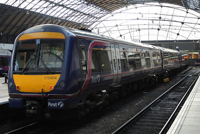 170404 at P3 of Glasgow Queen Street High Level waiting it's next turn of duty