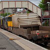 20303 and 20304 passing through Johnstone at the head of the nuclear flask train from Hunterston to Carlisle (Kingmoor)