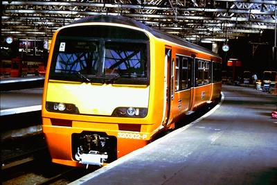 320302 at Glasgow Central just prior to commencement of service with ScotRail around 1990. At that time Class 320's were being used on proving runs to Gourock and this visit to Glasgow Central High Level is likely to be in connection with those tests.