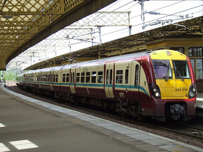 334014 at P3 of Paisley Gilmour Street on a Glasgow Central service