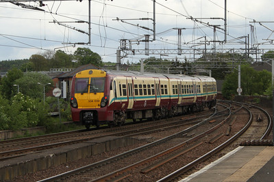 334039 departing Paisley Gilmour Street on a service to Glasgow Central