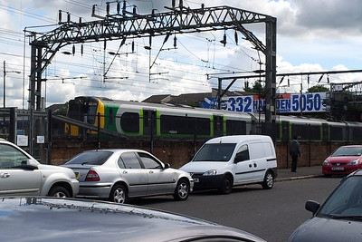 350374 London Midland Bridge Street Junction Glasgow 22/08/2014 On short term sub-lease to First Transpenine Express from London Midland