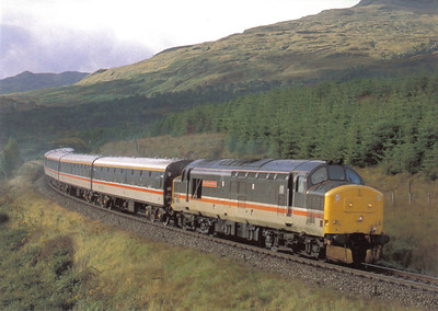 37401 The Royal Scotsman at Upper Tyndrum with a charter train