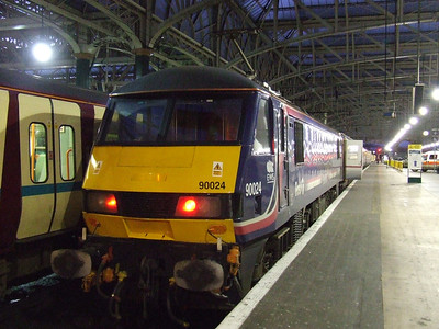 90024 at P11 having arrived with the Glasgow Central portion of the Caledonian Sleeper