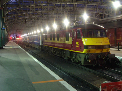 90034 at P11 with the Caledonian Sleeper