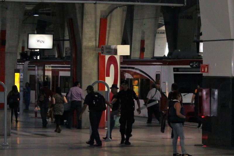 Ferrocarril Suburbanos EMU at Buenavista Station, Mexico City