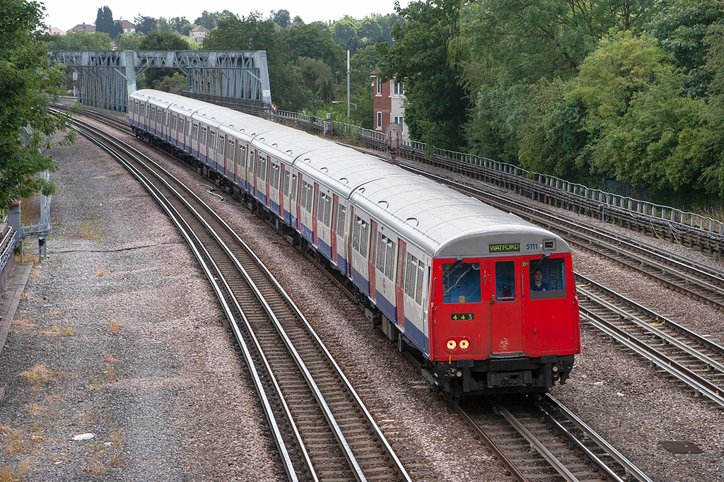 Metropolitan Line 5111, Northwood 24/7/2010
