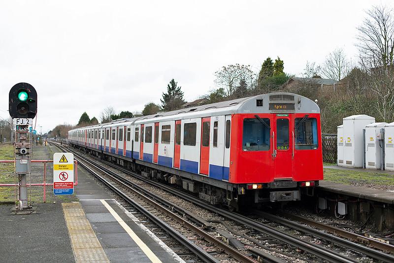 District Line 7021, Hornchurch 15/1/2014