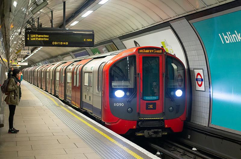 Victoria Line 11090, Euston 3/2/2016