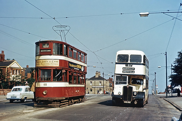 Leeds 155 and Sheffield 182 SWE282, Dewsbury Road 9/8/1956